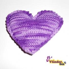 Rammelaar hartje lila paars