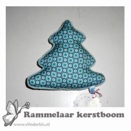 Rammelaar kerstboom mint knuffelfleece grafisch bloemetje