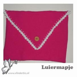 Luiermapje envelop roze wit