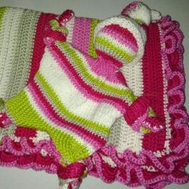Babydekentjes in roze, fuchsia, lime en wit