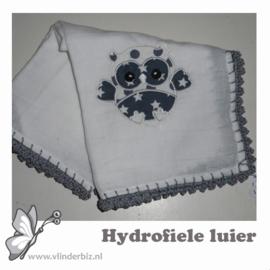 Hydrofiele luier uiltje grijs