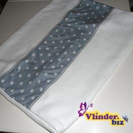 Aankleedkussenhoes wit grijs