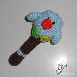 Rammelaar vogeltje babyblauw