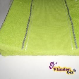 Aankleedkussenhoes wafel en badstof groen