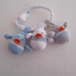 Maxicosi vogeltjes lichtblauw, lichtgrijs, wit