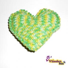 Rammelaar hartje groen geel