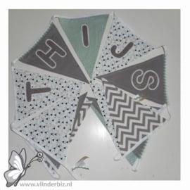 Verkochte vlaggenlijnen stof