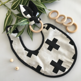 Cadeaupakket zwart wit plusjes