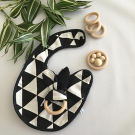 Cadeaupakket zwart wit driehoekjes