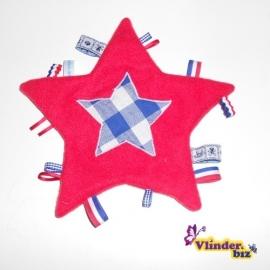 Knuffeldoekje ster rood holland