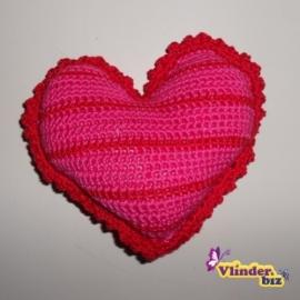 Rammelaar hartje roze rood