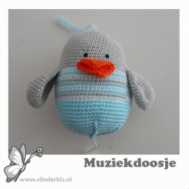 Muziekvogel mint, lichtgrijs, wit