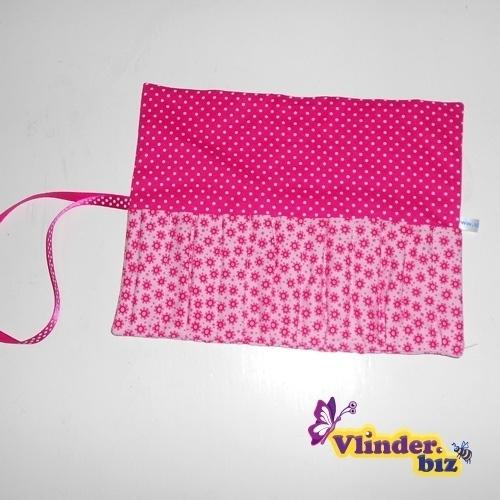 Stiftenrol roze tekkel