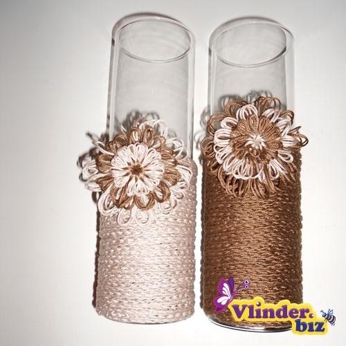 Vazen bekleed met wol