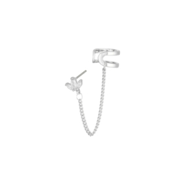 Earcuff Leaves Zilver Plated