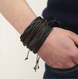 Heren Armbanden Set Veer