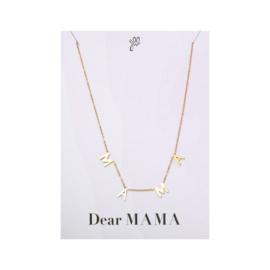 Ketting Dear Mama RVS Goud