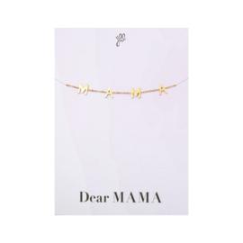 Armbandje Dear Mama Goud RVS