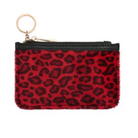 Portemonneetje Soft Leopard Rood