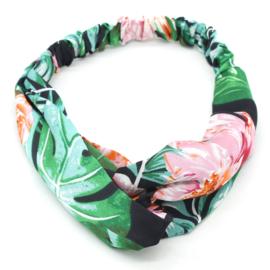 Haarband Flower Garden Roze
