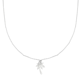 Ketting Palm Tree Zilver RVS