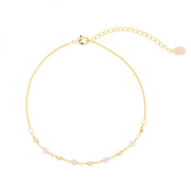 Enkelbandje Small Beads Gold Plated