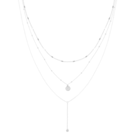 Ketting Layering Coin Silver Plated