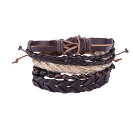 Heren Armbanden Set