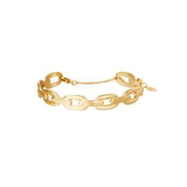 Armband Oval Chain Goud RVS