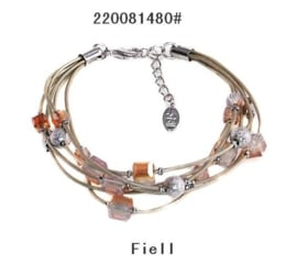 Armband Kraaltjes Natural Fiell Plated