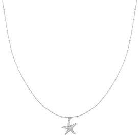 Ketting Starfish Zilver Plated