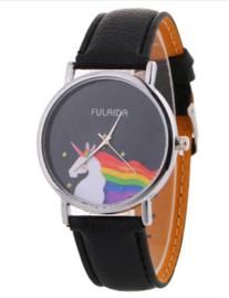 Unicorn Watch Zwart  LAATSTE EXEMPLAAR!