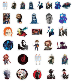 Horror Films Stickers Set (50 stuks)
