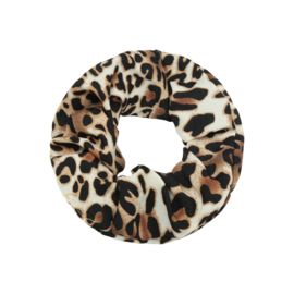 Haar Scrunchie Leopard Bruin
