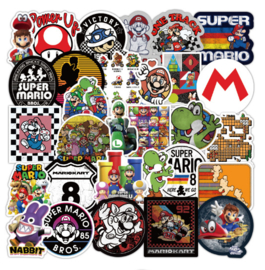Super Mario Bros Sticker Set A (50 stuks)
