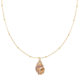 Ketting Shell Queen  Goud