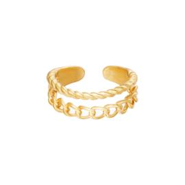 Ring Endless Love Goud RVS