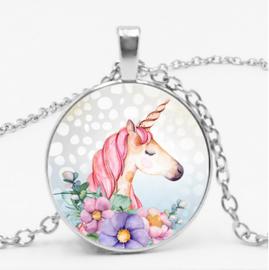 Glas Ketting Unicorn
