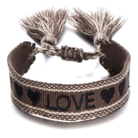Armband Geweven Love