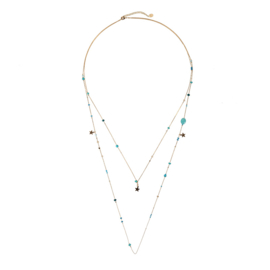 Ketting Happy Universe Turquoise Gold Plated