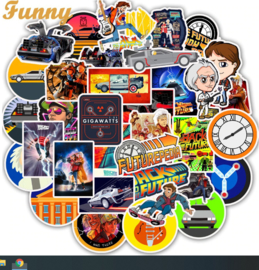 Back to the Future Sticker Set ( 50 stuks)