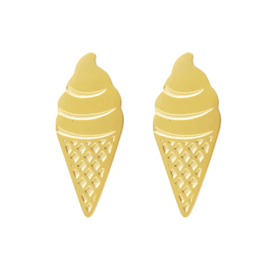 Ear studs Sweet Ice Cream Goud RVS