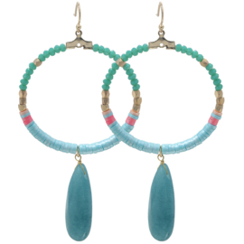 Oorbellen Colourful Beads Groen
