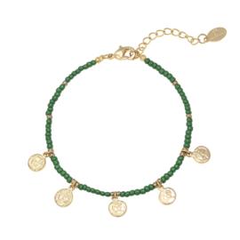 Armband Spiritual Groen Goud Plated