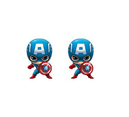 Marvel Captain America Oorbellen RVS
