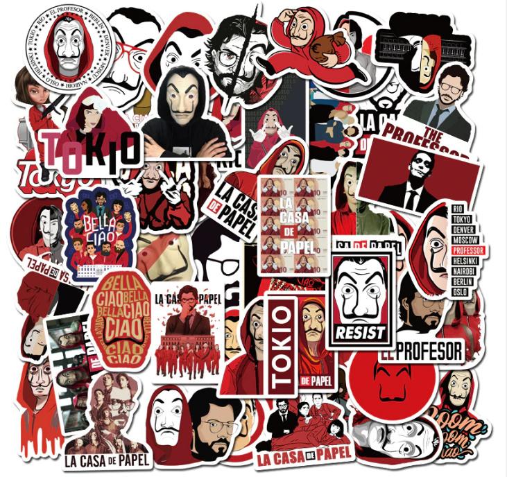 La casa de Papel Stickers Set (50 stuks)