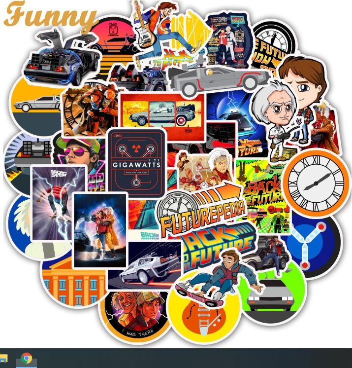 Back to the future  Stickers Set (50 stuks)