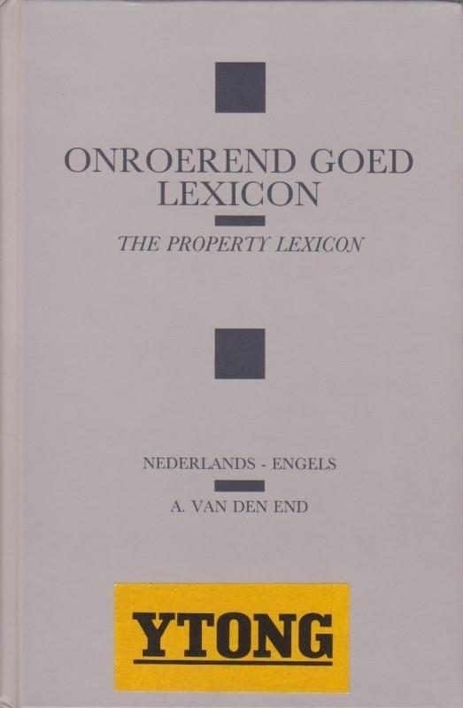 Onroerend goed lexicon, A. van den End