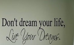 Don`t dream you life, live your dreams (wit)