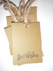 "Label ""Best Wishes""  per 4 stuks"